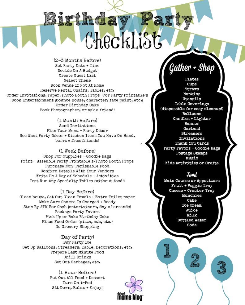 Annette Birthday Party Checklist 3