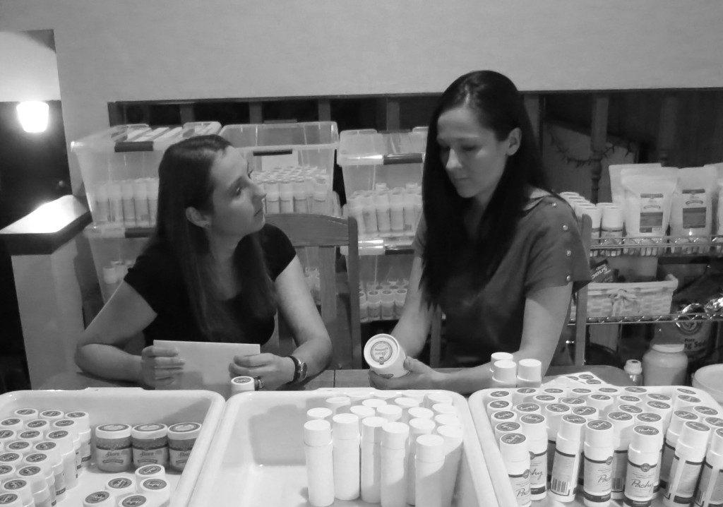 Kasia and Monica Discussing Skora Line