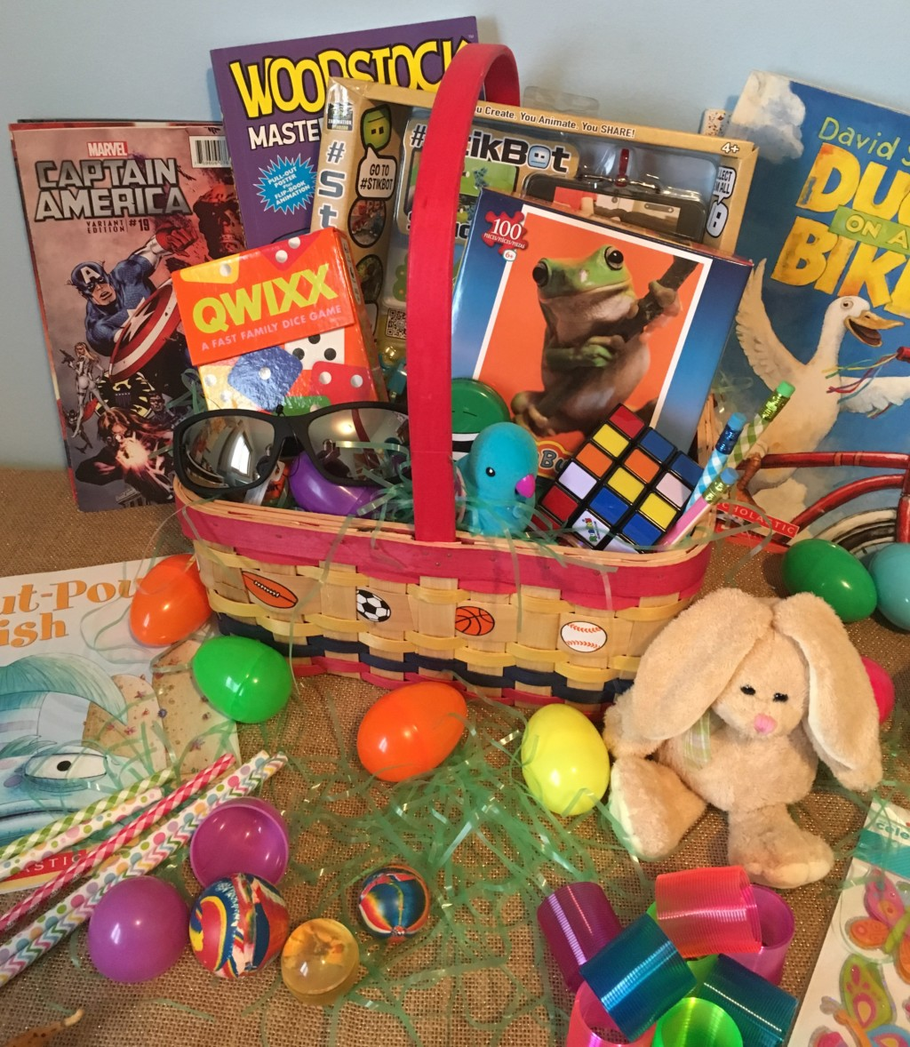 A sugar free easter non candy easter basket ideas negle Images