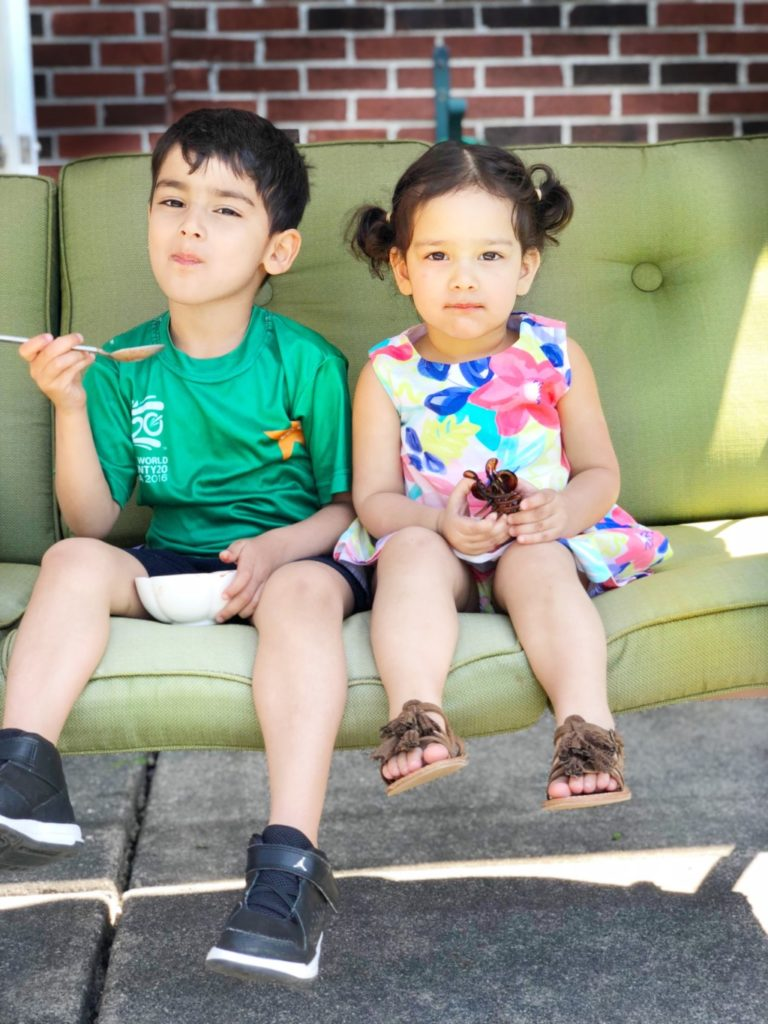 Ahmed (4) and Lena (2)