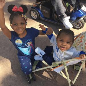Alicia Mckay's kids at Disney