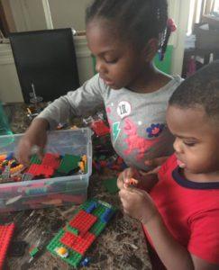 Alicia McKay's kids playing legos