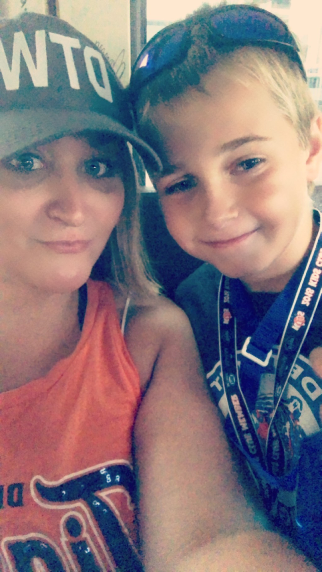 My birthday at the Tigers Game, just the two of us.