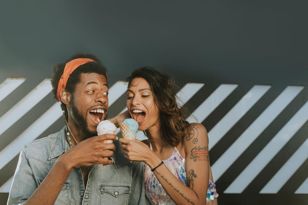 couple on ice cream date