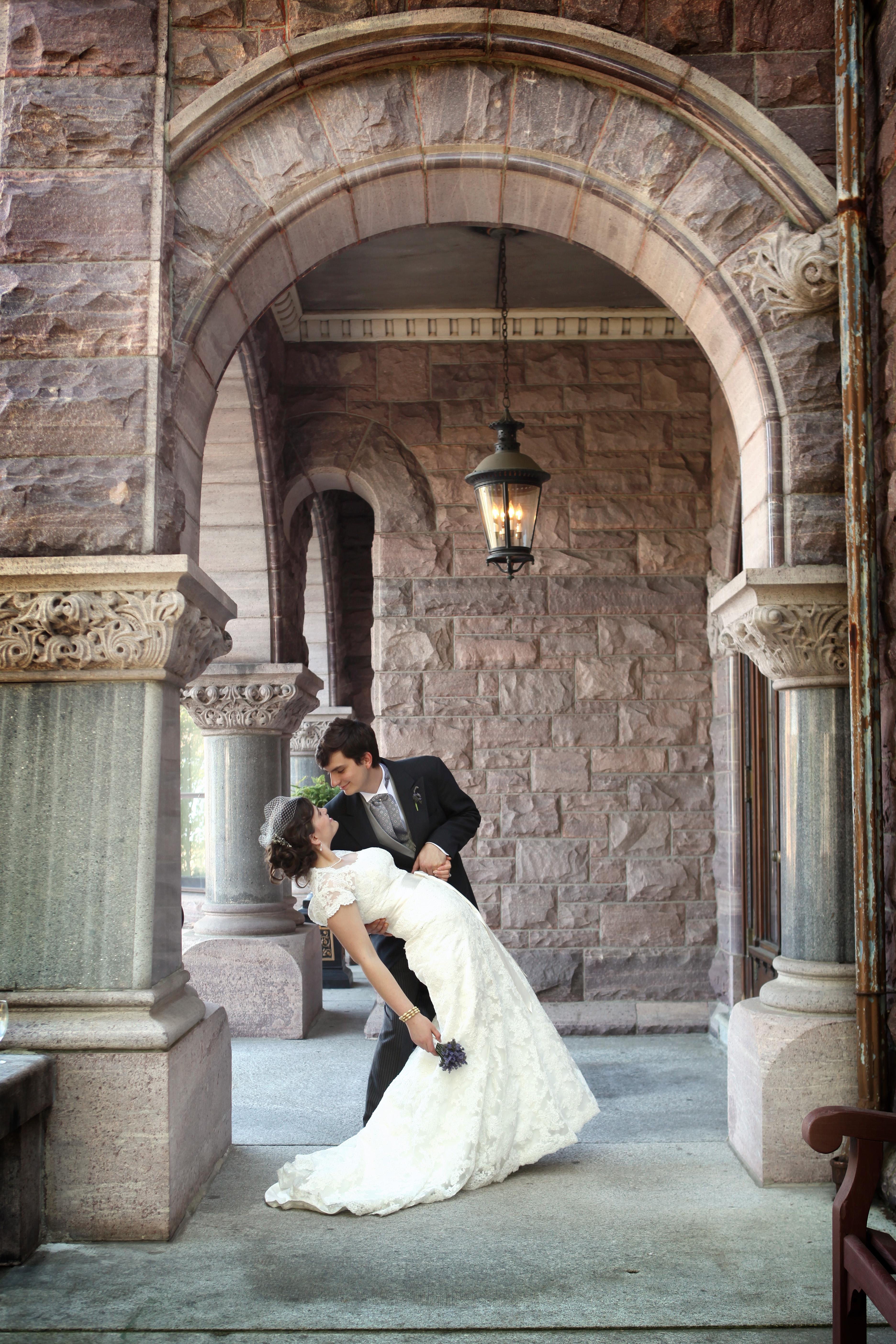 Wedding day at the Whitney, Detroit