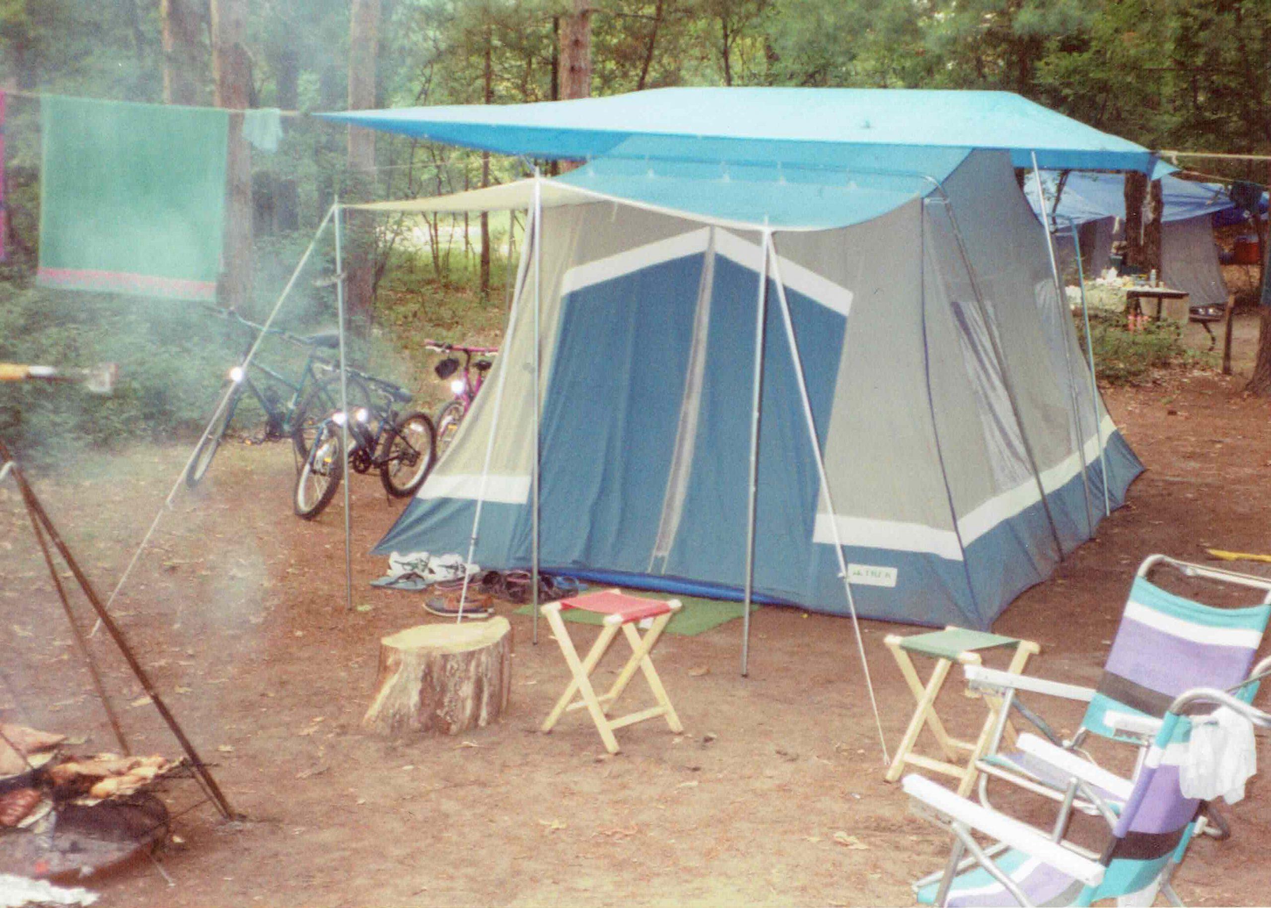 growing up camping