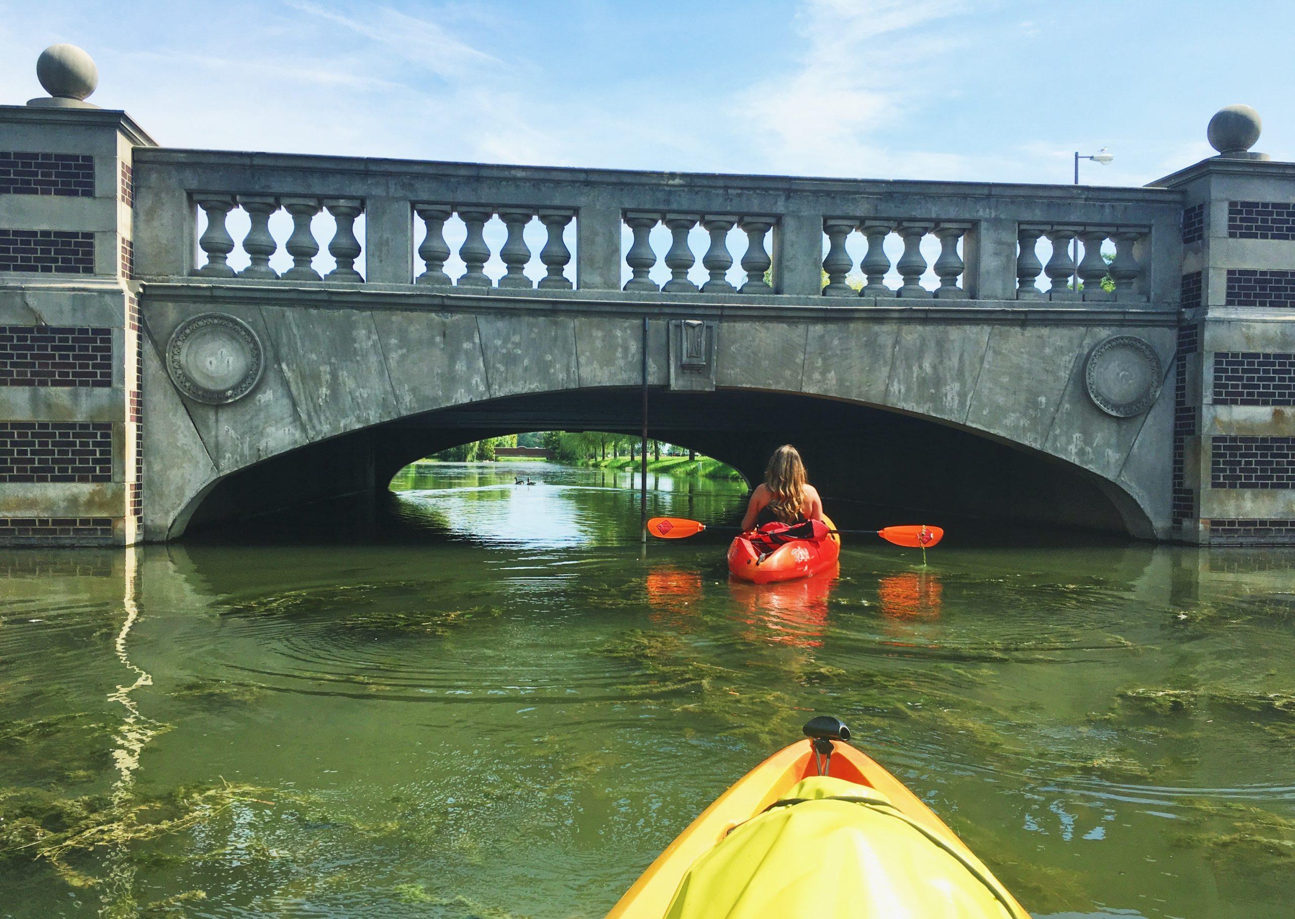 kayaking in metro Detroit on Belle Isle
